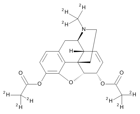 Heroin-D9 (Diacetylmorphine-D9) 1.0 mg/ml in Acetonitrile