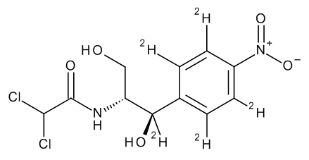 Chloramphenicol D5 (ring D4, benzyl D)