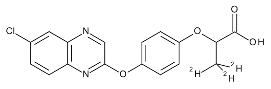 Quizalofop (free acid) D3 100 µg/mL in Acetone