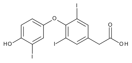 [4-(4-Hydroxy-3-iodophenoxy)-3,5-diiodophenyl]acetic Acid (Triiodothyroacetic Acid)