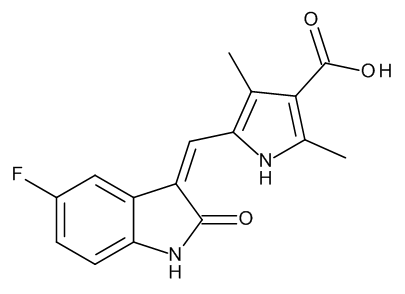 5-[(Z)-(5-Fluoro-2-oxo-indolin-3-ylidene)methyl]-2,4-dimethyl-1H-pyrrole-3-carboxylic Acid